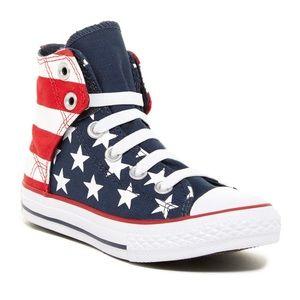 Converse All Star Hi Rise Red White Blue Hi shoes